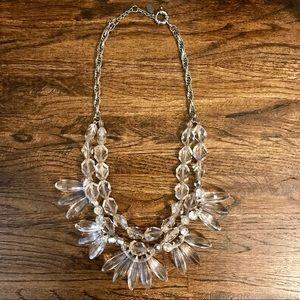 LOFT Crystal Statement Necklace